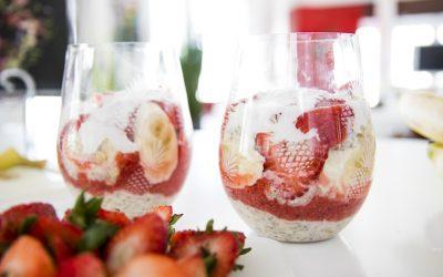 Strawberry Overnight Oats With Homemade Raspberry Jam